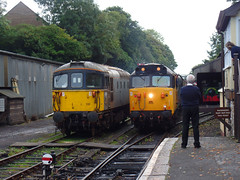 33110 & 50042 Bodmin General (Marky7890) Tags: 50042 class50 33110 class33 heritage diesellocomotive bodminwenfordrailway bodmin bodmingeneral cornwall train