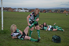 The Try (Andy WXx2009) Tags: sport rugby pitch field barry grass people outdoors team blonde shorts funny wales girls europe women femme female players beauty sexy legs socks landscape tackle brunette