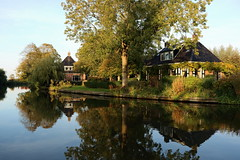 Autumn in Bartlehiem, Friesland, the Netherlands (Feiko.) Tags: autumn fall herfst colours river water reflection october seasons thenetherlands friesland dutch europe romantic hamlet historic traditional architecture