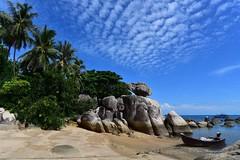 Koh Tao, Thailand (EXPLORED) ((c) Orion Photography) Tags: thailand island tropical beach boat koh tao paradise sun rock travel clouds sky scenery landscape seascape palm tree sea sand low tide