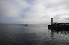 A Misty Outlook from Newlyn Harbour (Steve Weaver) Tags: newlyn penzance cornwall kernow cornish coast coastline harbour ocean mounts bay boat lighthouse horizon clouds landscape misty moody calm