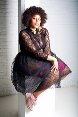 Jbex (Miguelski Photography) Tags: portrait woman beauty afro africanamerican ebony sneakers alternative lace fashion