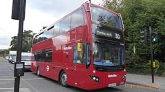 P1130584 VMH2484 LK18 AHO at Chapman Road Hackney Wick London (LJ61 GXN (was LK60 HPJ)) Tags: volvob5lhybrid mcvevoseti mcv evoseti metroline 105m 10490mm vmh2484 lk18aho nb869