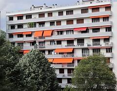 Grenoble, France (Haytham M.) Tags: travel tour visit trip france grenoble balconies blinds building