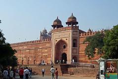 2018-10-26 0604 Indien, Fatehpur Sikri, Jama Masjid-Moschee (Joachim_Hofmann) Tags: indien uttarpradesh fatehpursikri moschee jamamasjid portal