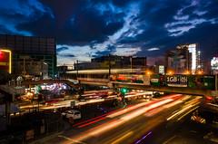 Raging against the dying light (Blue Nozomi) Tags: edsa pasay light rail transit lrt twilight philippines manila