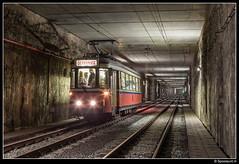 TEC 9175 - Fontaine (Spoorpunt.nl) Tags: zaterdag 13 oktober 2018 fotorit type sj wagen 9175 pays noir charleroi tec asvi afsleeptram fontaine fontainelévêque tunnel