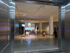 Looking out to the upper gallery from the lift (koukat) Tags: melbourne art architecture 2018 open house ohm openupmelb city weekend travel viaje architectura arte buxton contemporary gallery