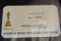 STANLEY KUBRICK: THE EXHIBITION ANNOUNCEMENT - STANLEY KUBRICK'S 1957 ACADEMY OF MOTION PICTURE ARTS AND SCIENCES MEMBERSHIP CARD (Craig Grobler) Tags: ckc1ne craiggrobler craigcalder london film uk theestablishingshot wwwtheestablishingshotcom theestshot attheestshot thestanleykubrickexhibition stanleykubrick exhibition filmexhibition designmuseum sony sonyalpha77 alpha77 panel props filmprops filmmaking janharlan alanyentob deyansudjic stuartbrown bfi aliceblack justinmcgurick mars