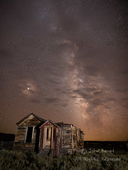Swasey Hotel At Night (saganorth2000) Tags: night milkyway building weathered stars house bodie decaying exterior bodiestatehistoricpark decrepit california clouds
