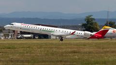 Bombardier CRJ-1000 EC-MSB Air Nostrum - Extremadura Sticker (William Musculus) Tags: airport spotting basel mulhouse freiburg bsl mlh eap euroairport flughafen ecmsb air nostrum bombardier crj1000 cl6002e25 extremadura sticker iberia regional yw ane canadair jet