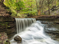 Waterfall (Ronda Hamm) Tags: 1585mm 7dii ithaca lickbrook ny waterfall canon fingerlakes gorge longexposure nature outdoors rock water