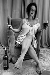 My Wife :) Alina (Kuba Petrymusz) Tags: women beautiful girl wife blackredwite czarnobiały czarno białe sex sexy sexywomen alina najlepsza bw ino tinto spain hiszpania night kieliszek fotel super milf