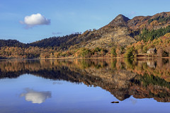 Serenity (Giovanni Giannandrea) Tags: lochachray trossachs autumn reflections benaan scotland tighmor scottish lochs colours water landscape mountain forest cloud peak crag serenity serenità