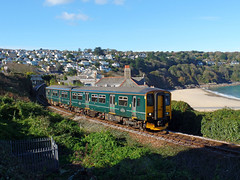 150265 Carbis Bay (2) (Marky7890) Tags: gwr 150263 class150 sprinter 2a18 carbisbay railway cornwall stivesbayline train