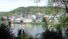 Traben-Trarbach Mosel 3D (wim hoppenbrouwers) Tags: trabentrarbach mosel 3d anaglyph stereo redcyan