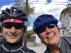 Cider Ride 2018 Ted and Gina (Mr.TinDC) Tags: people friends cyclists gina ted me mrtindc selfie