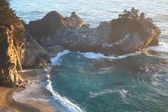 McWay Falls, CA (MSW3391) Tags: california bigsur monterey fujifilm xpro1 mcway falls golden hour waterfall