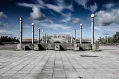 Olympic Symmetry (De Búrca Photography) Tags: outside travel estonia history canon canonm3 historic sky blue