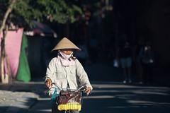 Hoi An Light (petemenzies.com) Tags: cyclist light sunshine shadow streetphotography streetportrait hoian vietnam people travel asia woman ricehat basket nonla coolie d700 300mm uncool uncool2 uncool3 uncool4 uncool5 cool uncool6 uncool7 c1u7