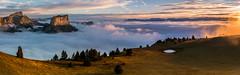 Panorama sur le Vercors (Julie. D) Tags: panorama ciel vercors chichilianne montaiguille veymont nuage clouds sea seaofclouds mer de 70200 tamron nikond7100 alps alpes france mountain montagne paysage sunrise landscape