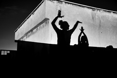 Magic happens in the dark (aria.ebady) Tags: tehran iran rooftop nikond5300 night white black bw bnw blackwhite dark shadow