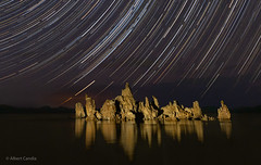 The battleship at Mono Lake with Star Trails (al_candia) Tags: michael frye starry skies workshop