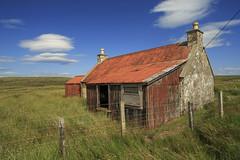 reddy to paint-blue sky thinking. (SkyeBaggie) Tags: croft house skye isleofskye sc redtop corrugated iron blue trotternish cloud