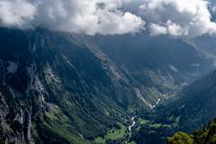 Lauterbrunnen Valley from Murren (pa_cosgrove) Tags: valley lauterbrunnen switzerland murren