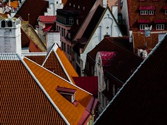 Rooftops of old Tallinn (Petri Juhana) Tags: roofs rooftops city landscape houses medieval tallinn tiles architecture building central hill summer
