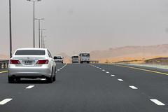 Road to Dubai from Al Ain (Piotr Kowalski) Tags: dubai unitedarabemirates emiates city arab travel dubaj zjednoczoneemiratyarabskie wakacje podróże turystyka desert road pustynia highway autobahn autostrada