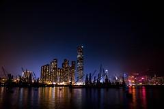 Light up the city (Enson Photography) Tags: colorful sky dark d750 nikon holiday photo light victoria sea harbour landscape night hongkong