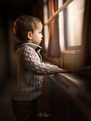 my favorite picture (agirygula) Tags: boy childhood child children 2yearsold train lightroom photoshop window windowlight light available dust