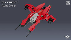 M-Tron Alpha Drone (CK-MCMLXXXI) Tags: lego moc mtron alpha drone fighter starfighter space