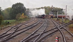 Great Central Railway Swithland Leicestershire 6th October 2018 (loose_grip_99) Tags: greatcentral railway railroad rail train swithland leicestershire eastmidlands england uk sidings tracks trackwork signals steam engine locomotive lner thompson b1 460 1264 1251 oliverbury autumn gala preservation transportation gassteam uksteam trains railways october 2018 headshunt