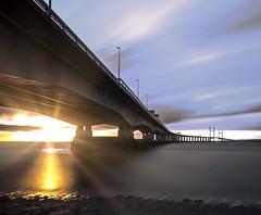 Heavenly Lights (Trigger1980) Tags: sunset sun bristol bridge bore beach big nikon nikond7000 night nite d7000 digital day water west wet walking windy england long lens exposure