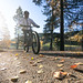 cycling in autumn road