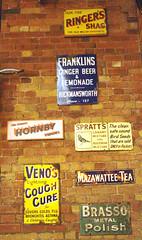 Old Station Ads (Ravensthorpe) Tags: york rail nrm signs text
