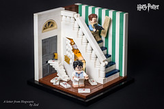 A letter from Hogwarts (Zed_43) Tags: harry potter lego moc brickpirate bpchallenge vernon dursley cupboardunderthestairs brick