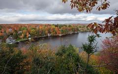 Muskoka colors (Roozbeh Rokni) Tags: muskoka ontraio canada canadian roozbehrokni fall fallcolors lake trees leaves nature autumn beaty clouds cloudy