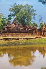 Banteay Srei Temple #1, Cambodia (Califdan) Tags: abandoned asia banteaysreitemple cambodia danhartfordphoto decay landscape moat old reflection ruin siemreaparea stonearchitecture templeshrine water womenstemple exif:lens=28300mm geo:lon=10396357455 camera:model=canoneos7dmarkii camera:make=canon geo:state=siemreap exif:aperture=ƒ63 geo:city=siemreapangkorarea exif:isospeed=800 geo:location=banteaysreitemple geo:country=cambodia exif:model=canoneos7dmarkii geo:lat=13598538483333 exif:focallength=33mm exif:make=canon 7d2r032135