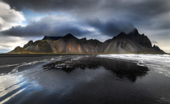 The jagged peaks. (lawrencecornell25) Tags: landscape vestrahorn iceland easterniceland coast mountains beach blackbeach cloudy outdoors nature scenery stormy nikond850