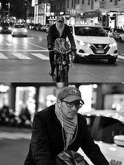 [La Mia Città][Pedala] (Urca) Tags: milano italia 2018 bicicletta pedalare ciclista bike bicycle nikondigitale scéta ritrattostradale portrait dittico biancoenero blackandwhite bn bw 115856
