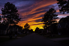 Sunset '18 (R24KBerg Photos) Tags: scenic sunset summer evening dusk canon road colorful 2018 landscape neighborhood northcarolina nc nature south orange sky weather wintervillenc pittcounty clouds