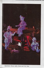 Disneyland Haunted Mansion  -Spirited Three From Postcard Booklet ( 1969 ) (Donald Deveau) Tags: disney disnyana disneyland ghosts hauntedmansion postcard