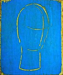 Weniger_ist_mehr (web.werkraum) Tags: wenigeristmehr ks druckstock holz kopfoval linienschnitt association art artist berlinerkünstlerin karinsakrowski meinberlineratelierab2008beiflickr now original objekt oval idol jetzt kramenindenfächern druckgrafik handdruck spiegelverkehrt neigung blau blue blues tagesnotiz vertrautheit webwerkraum zeichenhaft
