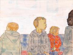een nieuwe serie tekeningen, 15x20cm karton, horizontaal en dit is #010 (h e r m a n) Tags: herman illustratie tekening 15x20cm tegeltje drawing illustration karton carton cardboard kunst art horizontal landscape kind kid child boy jongen kids children kinderen boys jongens