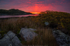Down East Fall Sunrise (Adam Woodworth) Tags: autumn bayoffundy boldcoast downeast fall lubec maine newengland seacoast sunrise carryingplacecove