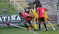 Lewes 2 Folkestone Invicta 0 20 10 2018-343-2.jpg (jamesboyes) Tags: lewes folkestoneinvicta football soccer fussball calcio voetbal amateur bostik isthmian goal score celebrate tackle pitch canon 70d dslr