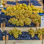 Black and white grapes on marketplace thumbnail